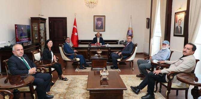 Ordu Kent Konseyi Yürütme Kurulu, Vali Yavuz'u Ziyaret Etti