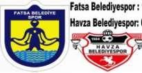 FATSA BELEDİYESPOR 1-0 HAVZA BELEDİYESPOR